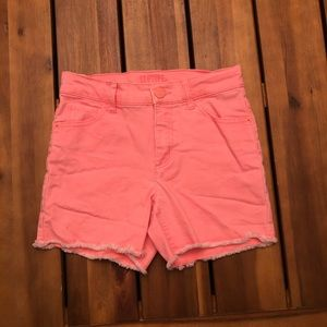 Girls Pink Justice Shorts- Size 12